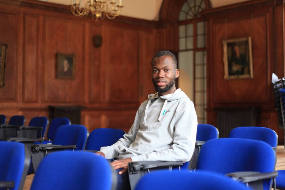 ChuChu Nwagu, RSU President, in the Portrait Room, Grove House