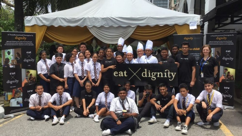 Crystal with Dignity students