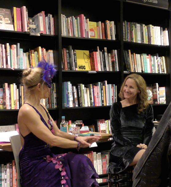 Dr Sarah Walton at a talk in a bookshop