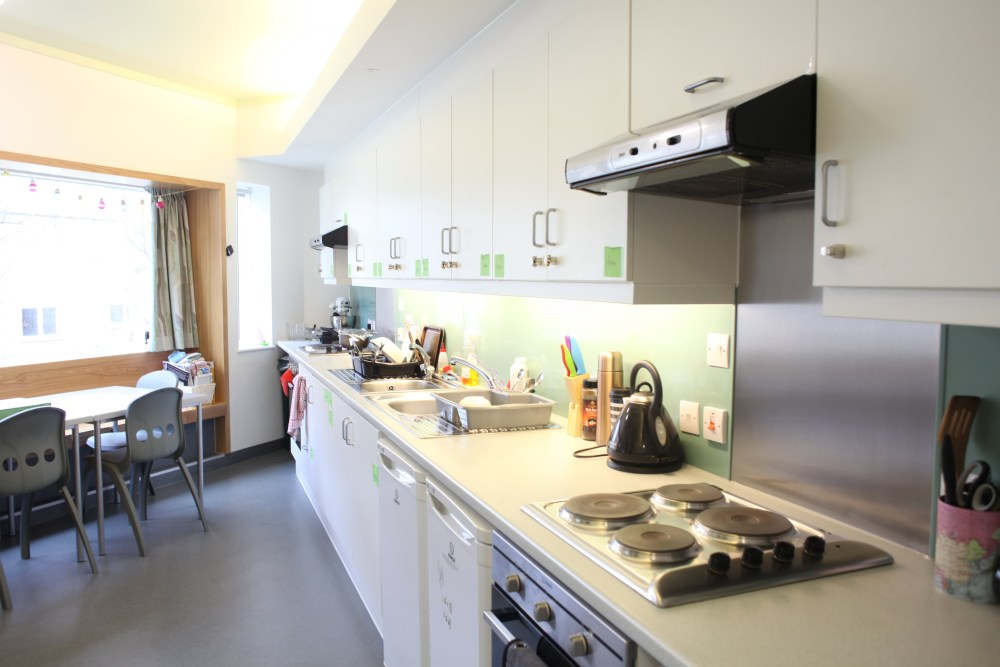 A kitchen in one of our halls of residence