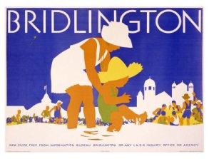 bridlington Том Парвис, классический плакат Англии Том Парвис. Первый дизайнер Великобритании. bridlington