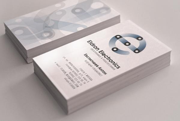Eldron Electronics, фирменный стиль, визитные карточки