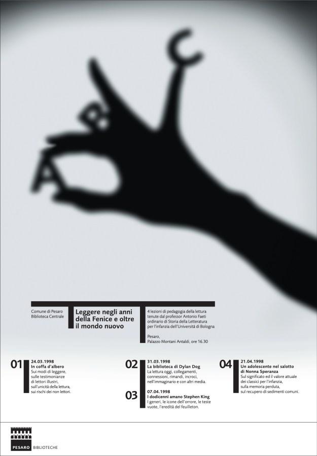 ABC Плакат к циклу лекций о детской литературе в Центральной библиотеке Пезаро. 1998 Соединив простенькую теневую фигуру, показываемую взрослыми детям, с первыми буквами алфавита, Сонноли создал точный образ литературы для детей.  ЛЕОНАРДО СОННОЛИ. ОН ИТАЛЬЯНЕЦ, И ЭТО МНОГОЕ ОБЪЯСНЯЕТ. С.Серов ЛЕОНАРДО СОННОЛИ. ОН ИТАЛЬЯНЕЦ, И ЭТО МНОГОЕ ОБЪЯСНЯЕТ. С.Серов ABC