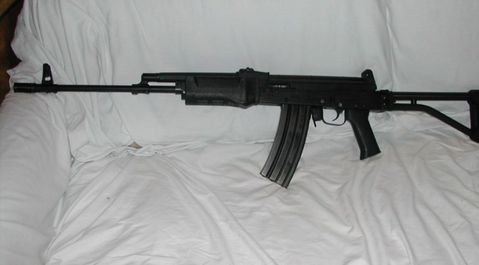 AK with Galil Furniture including our Custom Galil Grip for AKs
