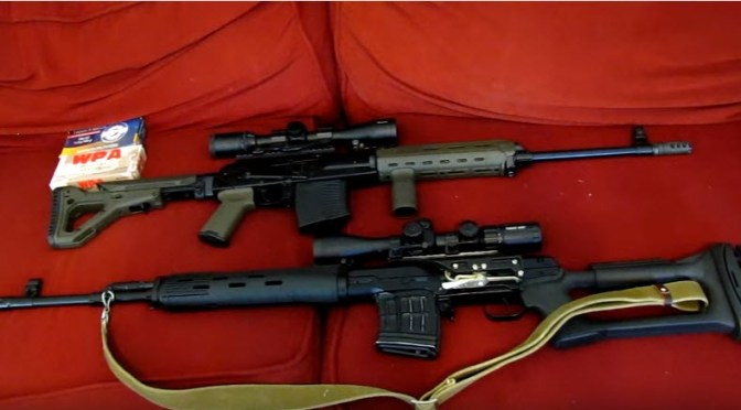 Video:  RANGE TIME: SVD Dragunov VS VEPR (Izhmash Tigr VS Molot Vepr 7.62x54R) by bfgmovies