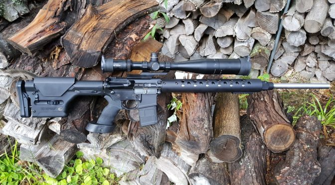 A Heavy Target AR With A 26″ 5.56x45mm White Oak Upper, Geissele Trigger and Vortex HS-T 6-24×50 Scope