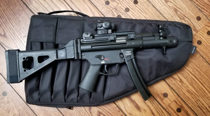 Basic SubGun Case for HK SP5K with Brace