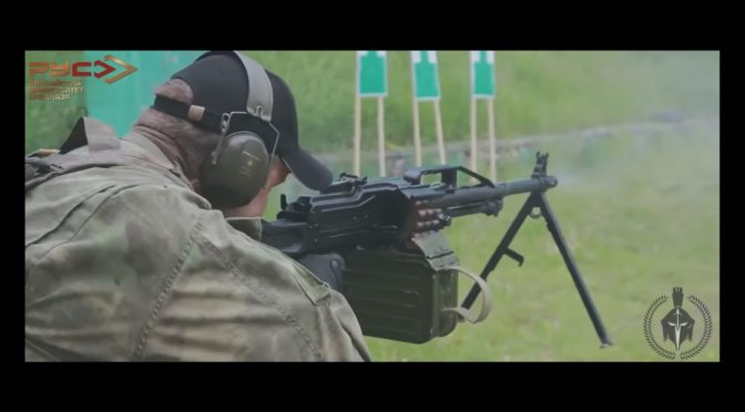 Russian Spetsnaz Working Out With The PKM Machine Gun