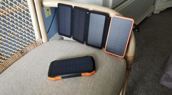 A Tale of Two USB Battery Packs With Integral Solar Cells – One is Worth It and One Is Not