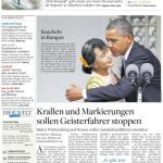 "Titelseite ""Die Welt Kompakt"" vom 20. November 2012"