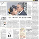 """Titelseite """"Der Tagesspiegel"""" vom 20. November 2012"""