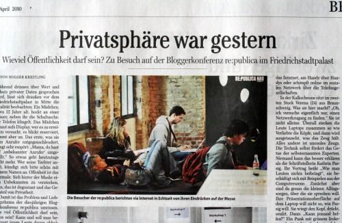 """Ausschnitt """"Berliner Morgenpost"""""""