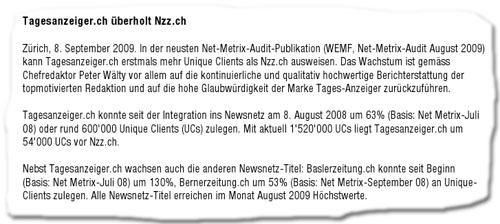 Newsnetz Pressemitteilung