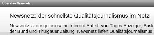 Newsnetz Qualitätsjournalismus