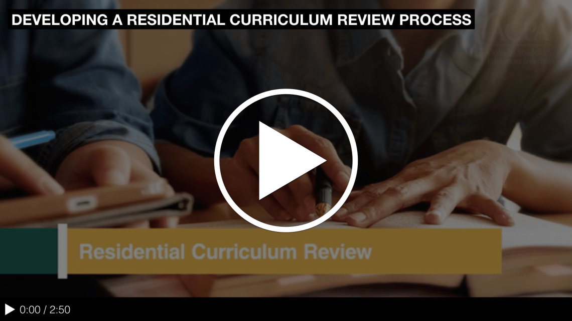 Developing a Residential Curriculum Review Process