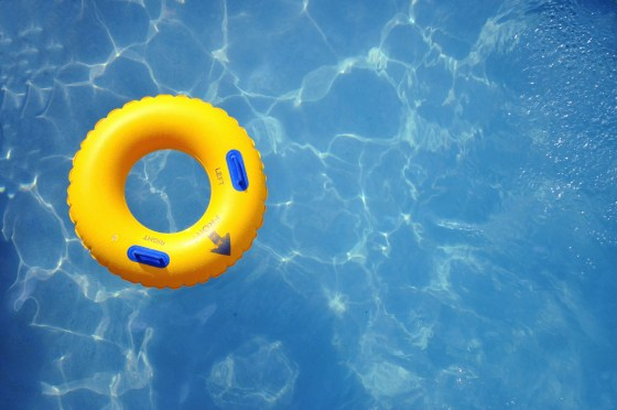 Image of inner tube in a pool