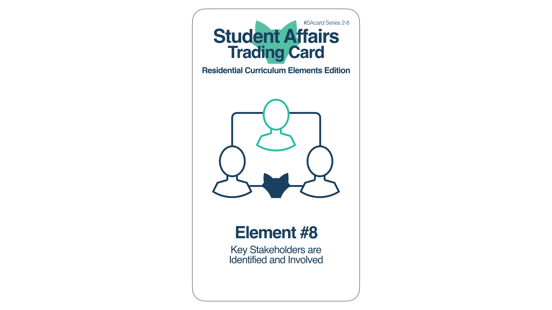 Student Affairs Trading Card 2-8: Residential Curriculum Element 8