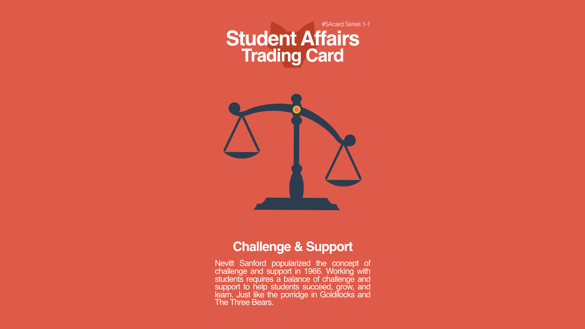 Student Affairs Trading Card 1-1: Challenge and Support