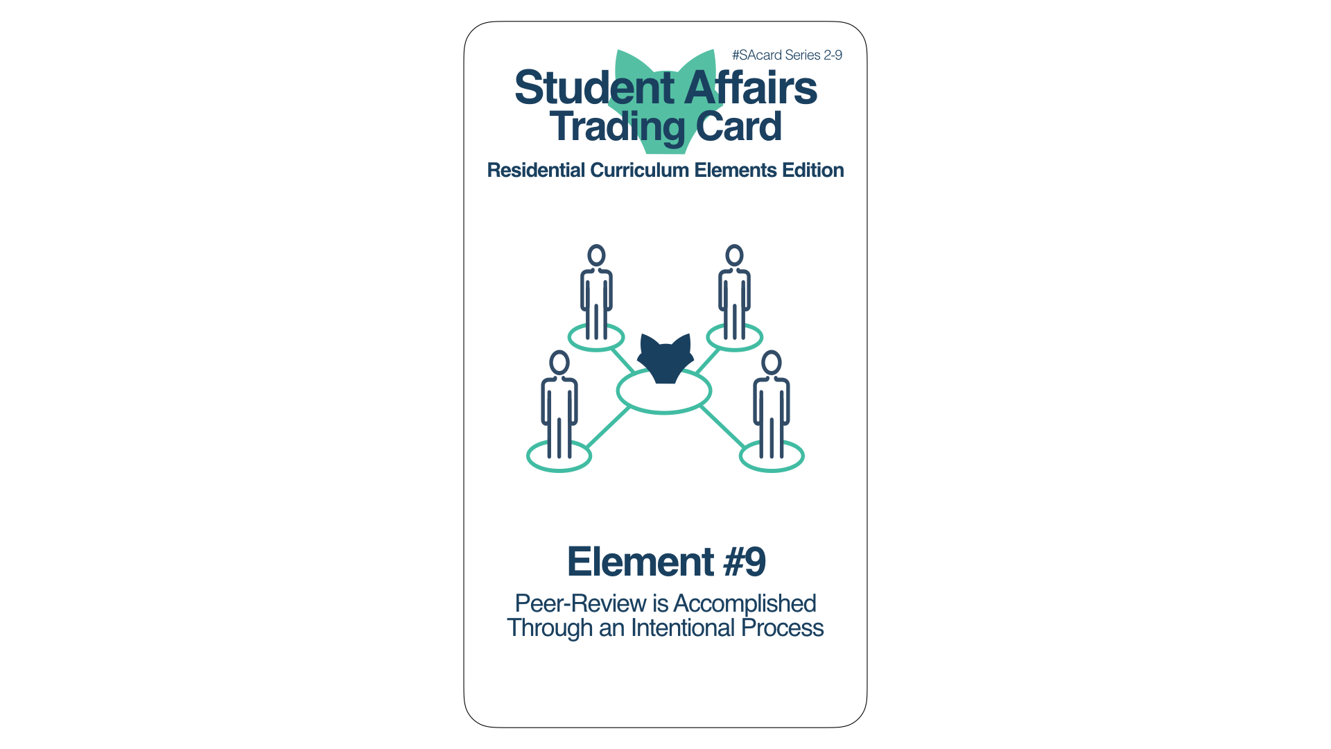 Student Affairs Trading Card 2-9: Residential Curriculum Element 9