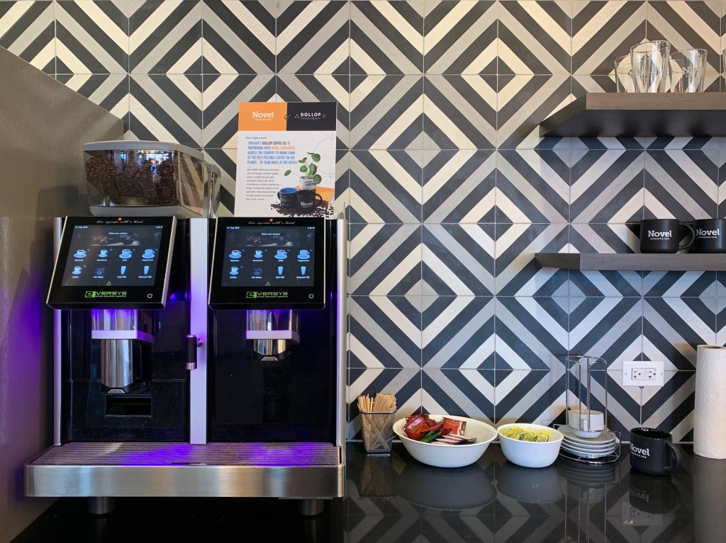 Coffee, Espresso, Cappuccino, Latte Bar at Roompact Offices