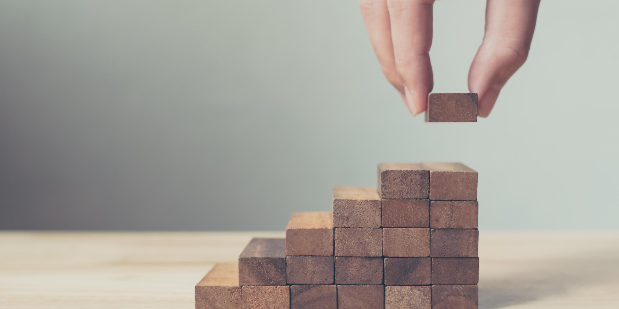 Stairs made of bricks