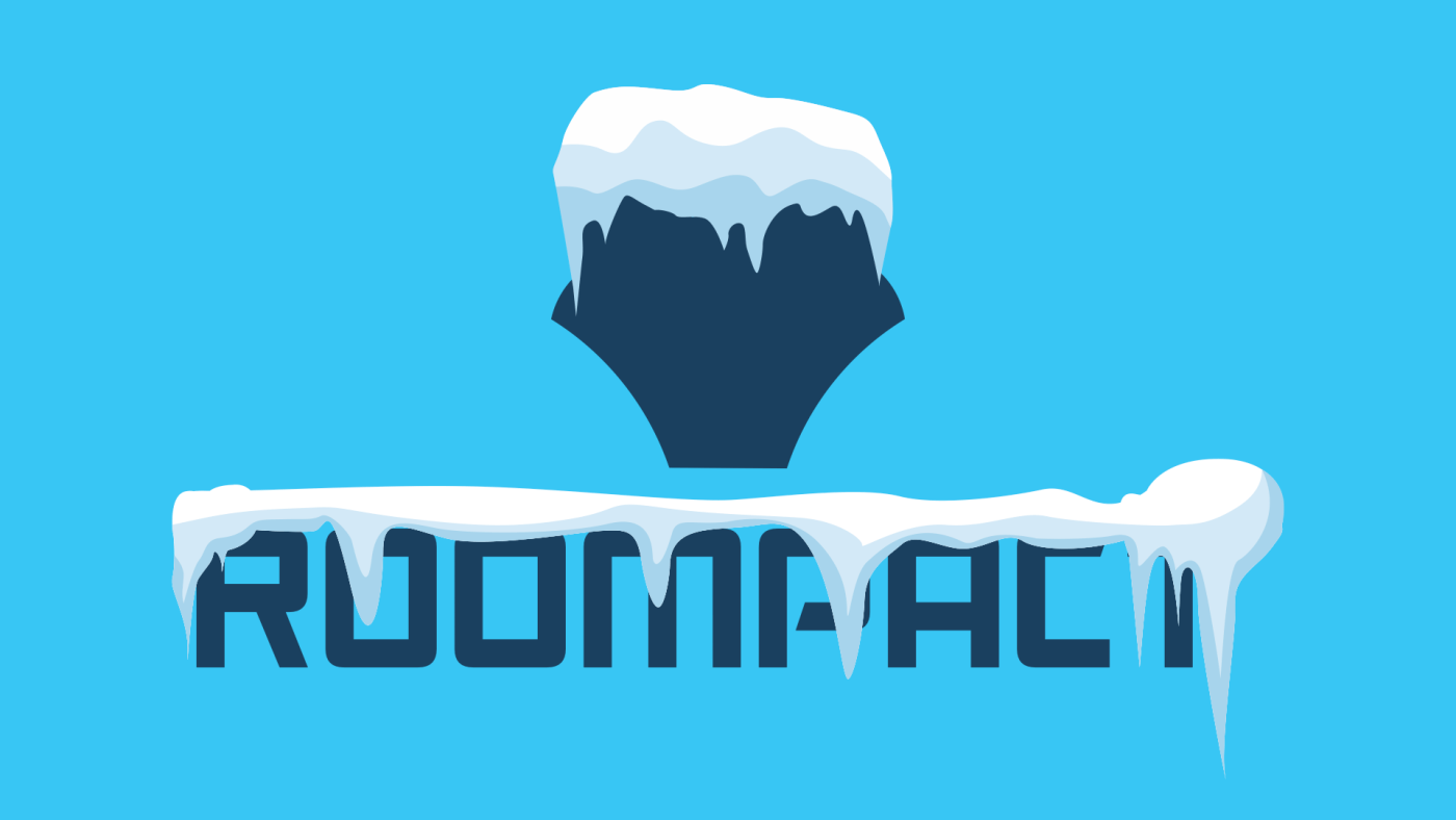 Roompact Logo Covered in Snow