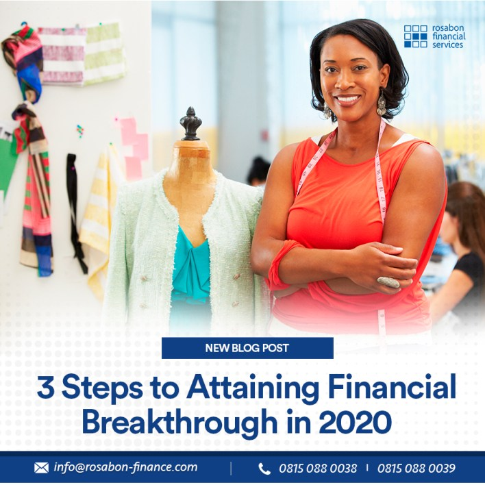 financial breakthrough