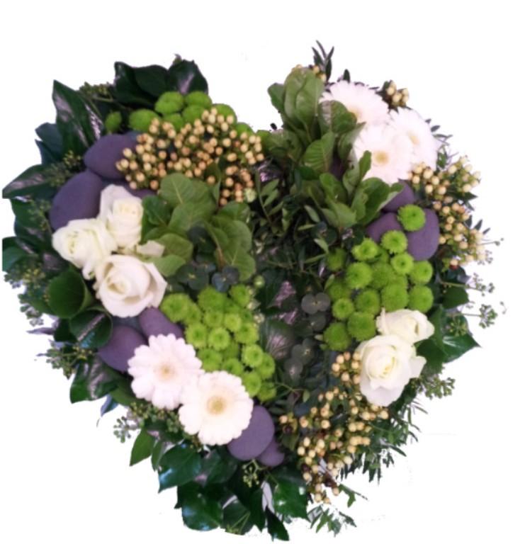 Fleurs Deuil Coeur NaturelAtelier De Crations Florales