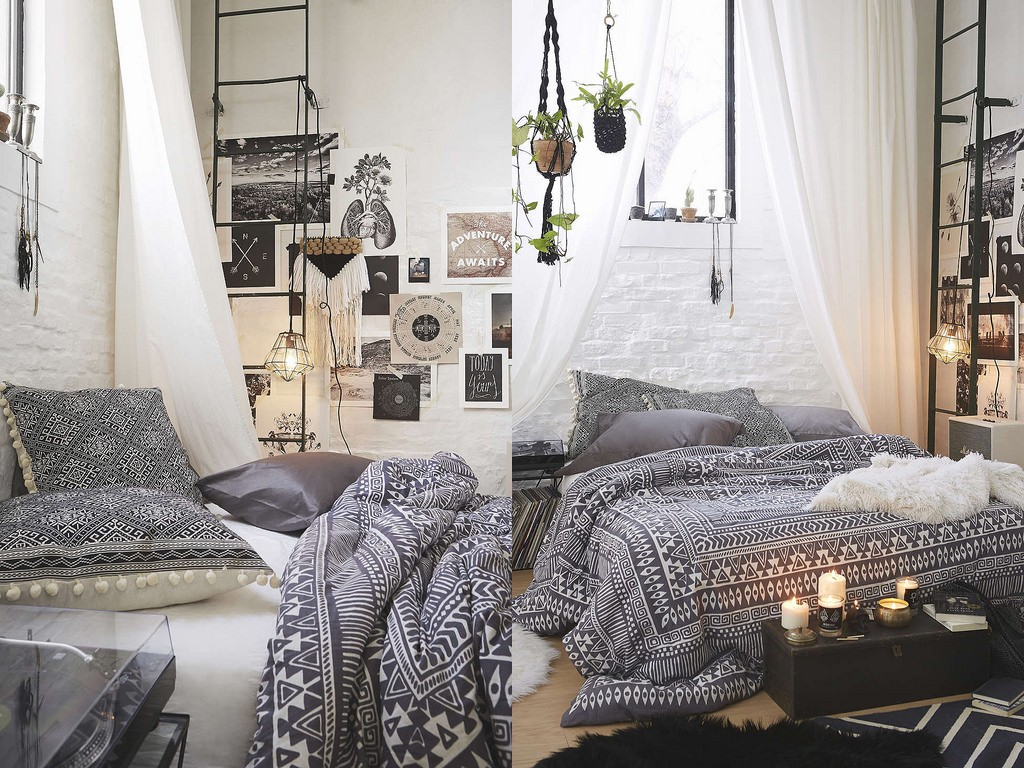 Bohemian Style Bedroom Decorating Ideas | Royal Furnish on Bohemian Bedroom Ideas  id=43330