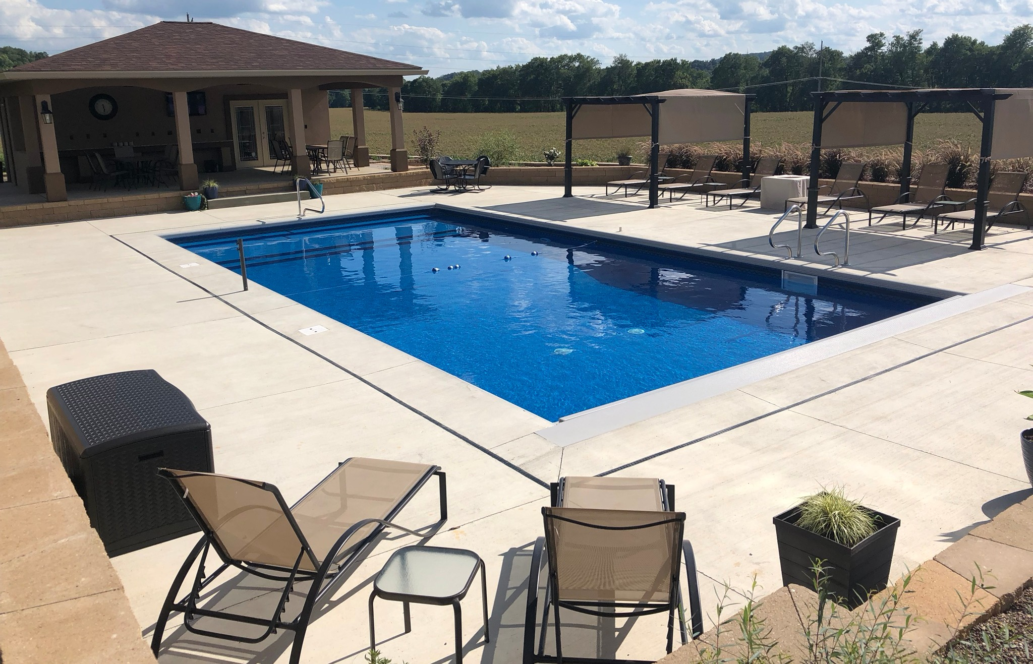 How Much Decking or Patio Do I Need Around an Inground ... on Pool Deck Patio Ideas id=13390