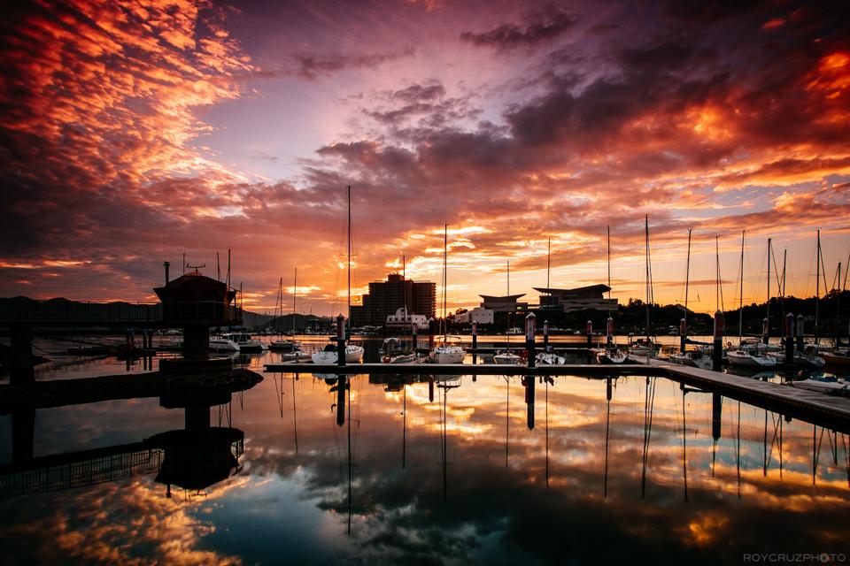 Tongyeong Marina Sunrise-1
