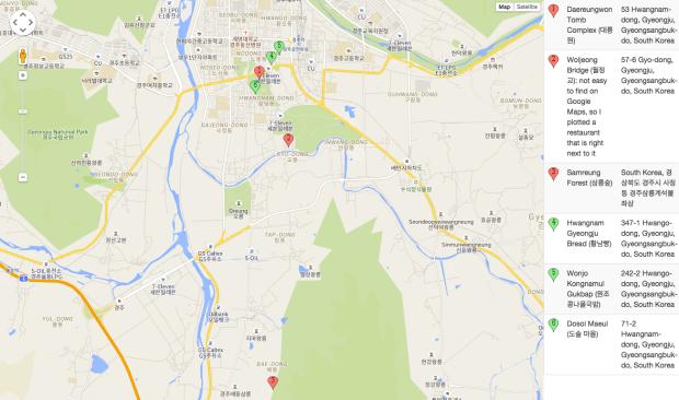 Weekend in Gyeongju Map By Roy Cruz Photo