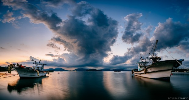 Geoje Storm Cloud Sunset Pano-1