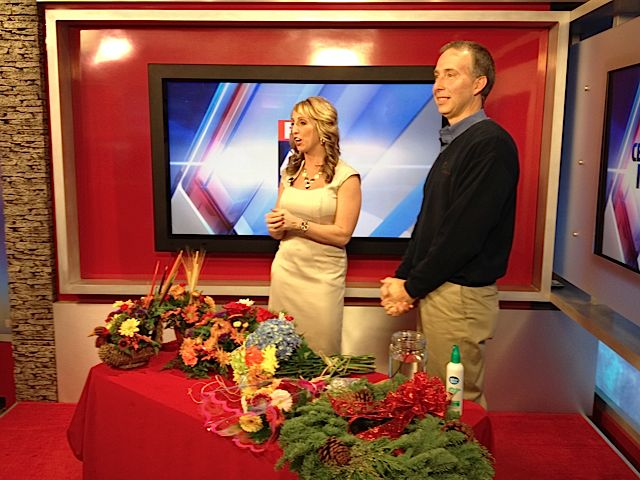 Barry Spengler with Fox 43 Morning News' Amanda McCall.
