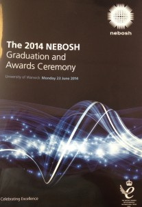 Nebosh Graduation Awards and Ceremony 2014