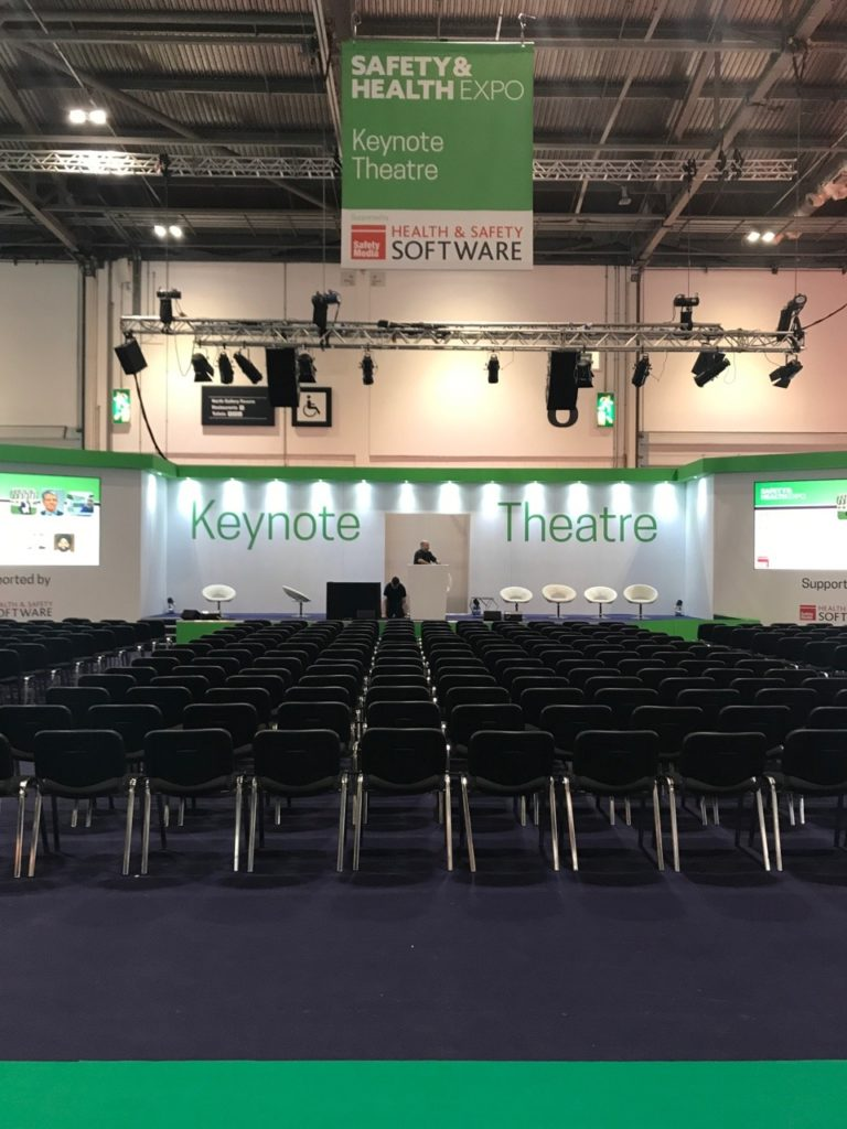 The Key Note Theatre area at The Safety and Health Expo 2018