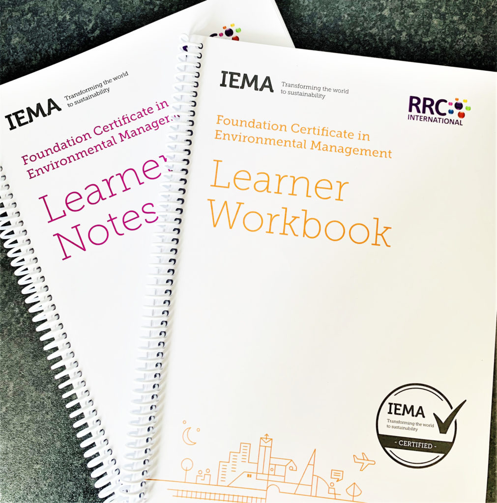 Learner notes and workbook - IEMA Foundation Certificate in Environmental Management