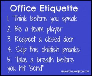 office-etiquette