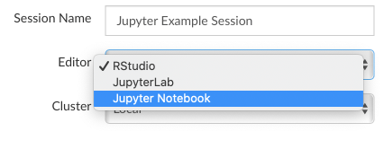 Start a new JupyterLab or Jupyter Notebook session