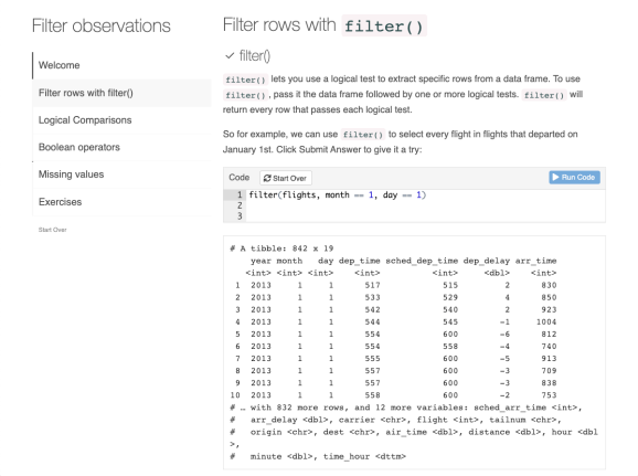 Filtering Data with R