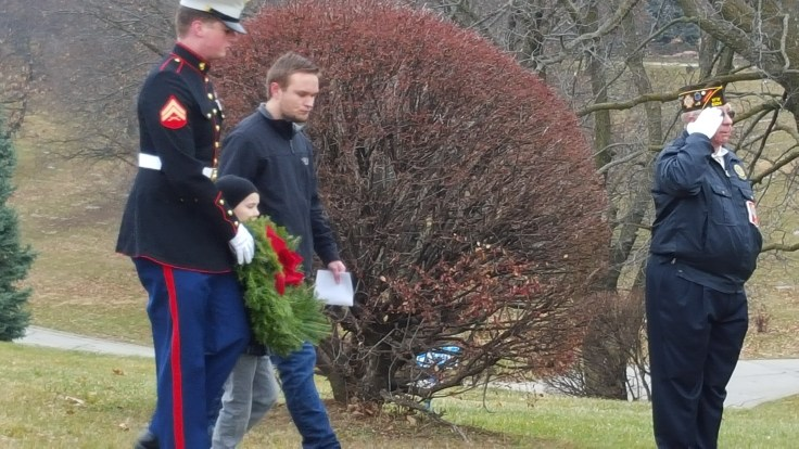 Wreaths Saluting