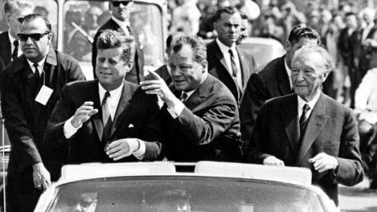 Джон Кенеди, Вили Бранд и Конрад Аденауер, 26 юни, 1963 г.