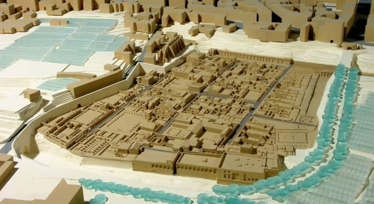 Макет на разкопките в Херкулан
