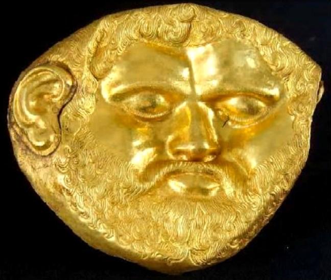 Погребална маска от могила Светицата