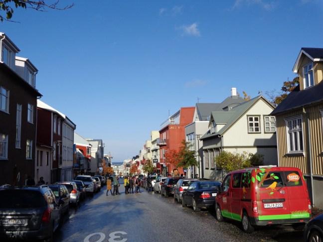 Една от централните улици на Рейкявик