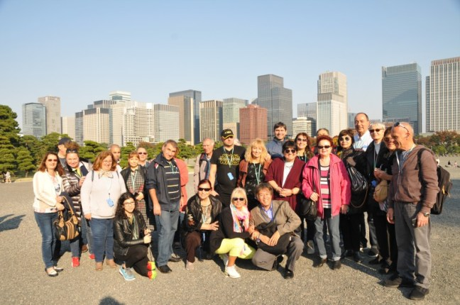 Славната ни група в Източните градини на Императорския дворец