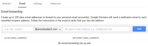 Google Domains Manage Email Forwarding