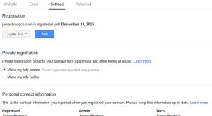 Google Domains Manage Settings Registration