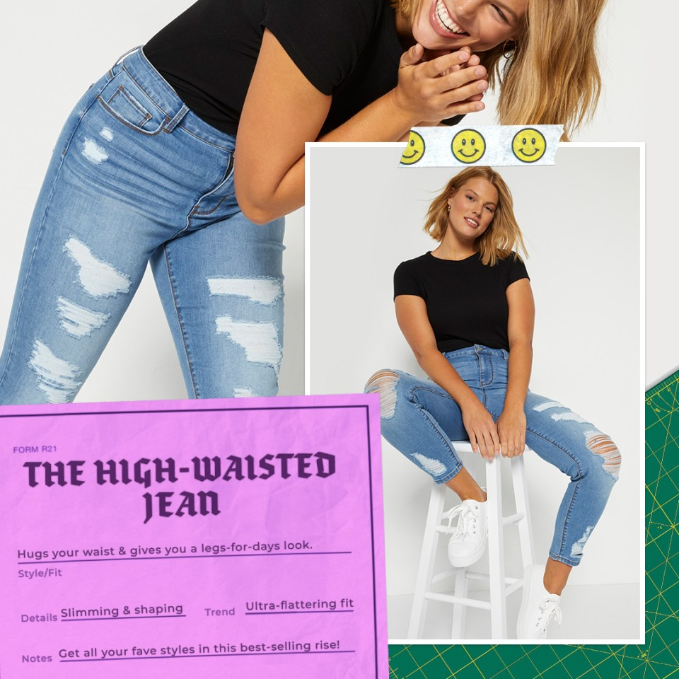 high waisted jean fits