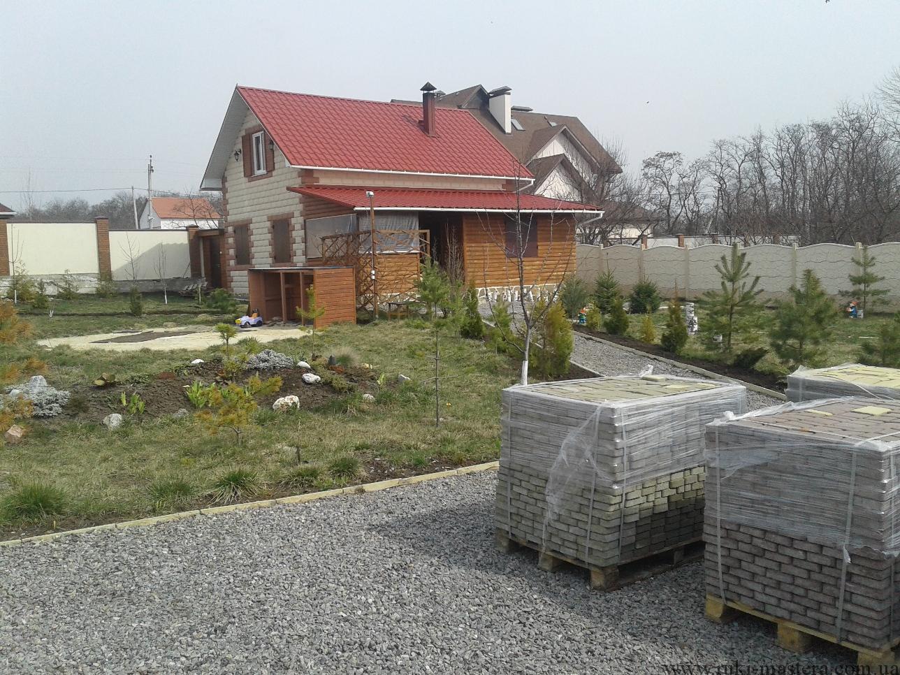 идеи украшения двора